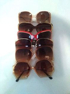 True VINTAGE OVERSIZED SUNGLASSES 6 in Lot assorted Dead stock  #chinaTaiwanHongKong #OversizeBoho #Casual