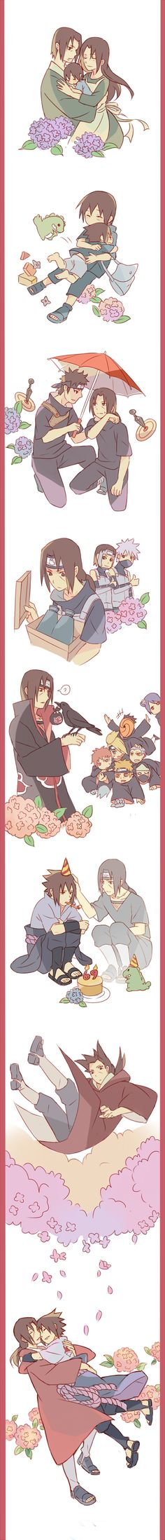 Itachi's always there for Sasuke, isn't he?
