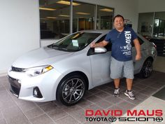 Juan with his brand new 2014 Toyota Corolla! Welcome to the David Maus family, Juan! #WhateverItTakes #Toyota #2014Corolla