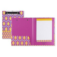 Capri Designs Medium Size Padfolio with Clipboard - Moroccan Tile-- I have this and I love it so much!