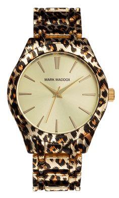 Animal print watch- Mark Madoxx-