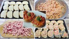 Horké sendviče se šunkou, sýrem a vajíčkem   NejRecept.cz Fried Rice, Mashed Potatoes, Pizza, Fries, Muffin, Tacos, Food And Drink, Appetizers, Breakfast