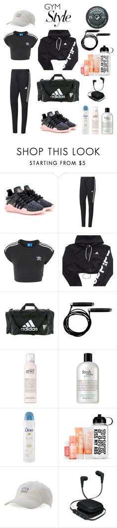 """Unbenannt #37"" by durtedenise ❤ liked on Polyvore featuring adidas Originals, adidas, philosophy, Dove, Body Rags and iWorld"