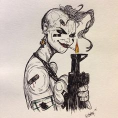 Have not posted some #art in a long time. #tankgirl #epic #artist #drawing #fineliner #line #work #completed #art_fido #insta_art #drawingoftheday #sketch #sketching #sketchbook #memories @the_art_network @art_collective_mag #artnerd #artsanity