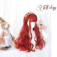 Kawaii Hairstyles, Cute Hairstyles, Straight Hairstyles, Wig Styles, Curly Hair Styles, Style Kawaii, Moda Lolita, Kawaii Wigs, Anime Wigs