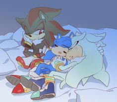 Sonic shadow and silver. (Srry, dont know how made this)