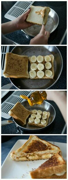 Peanut Butter, Cinnamon, and Banana Grilled Sandwich