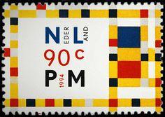 1994-02-01 Mondrian postage stamp | Flickr - Photo Sharing!