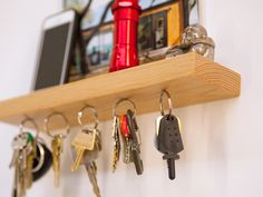 Rackless combines a magnetic key rack with a floating shelf, effortlessly suspending up to 150 keys in mid air.