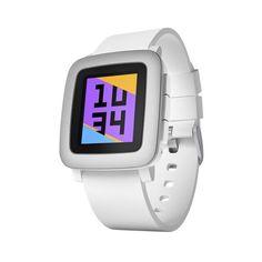 #Smartwatch Pebble Time Blanco.   http://www.opirata.com/es/smartwatch-pebble-time-blanco-p-36500.html