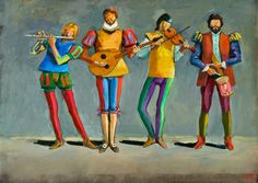 Músicos, Carybé [Acervo Pinacoteca ©Carybé]
