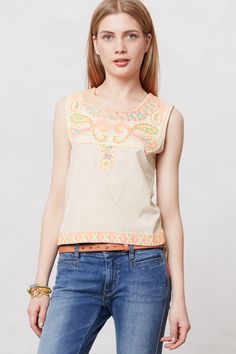 Threaded Neon Tunic - anthropologie.com