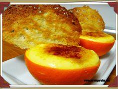 Naranjas rellenas de crema de naranja y crujiente de almendra | Por mis perolas | Blog de cocina