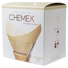 Chemex Coffee Filter Squares Pre-Folded 100/Box * Check this awesome product by going to the link at the image.