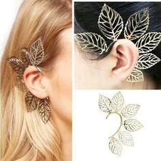 Boucle D'oreille Mode féminine Filigrane Feuille d'oreille Boucles
