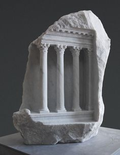 Historic Architectural Structures Carved into Blocks of Marble by Matthew Simmonds (via My Modern Met)