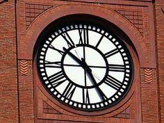 Clock, Building, Red Brick, Large