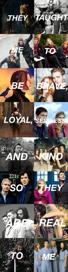 Fangirls will understand {Merlin, Narnia, Divergent, Harry Potter, The Hunger Games, The Mortal Instruments, The Maze Runner, Percy Jackson, TFIOS, Teen Wolf, Sherlock, Doctor Who, Supernatural, LOTR, Game of Thrones, and Grey's Anatomy <3}