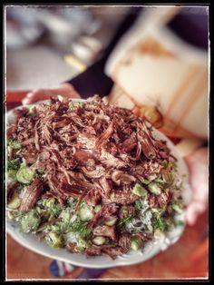 Bean, rice and beef  (Baghali polo ba gusht)