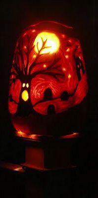 ☆ Halloween Night Pumpkin Carving Art ☆