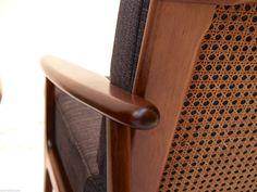 Pair OF Parker Blackwood Rattan Back Lounge Chairs Sydney 1961 Vintage Retro Retro Home, Lounge Chairs, Rattan, Sydney, Door Handles, Retro Vintage, Home And Garden, Ebay, Home Decor