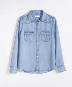Gwen denim shirt 29.95 EUR, Paitapuserot - Gina Tricot