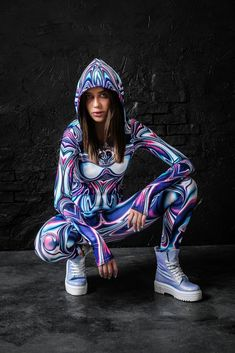 FRENZY LIQUID FIT ONESIE by BADINKA. Check our website for more festival fashion and festival outfit ideas! Festival Outfits, Festival Fashion, Festival Clothing, Rave Bodysuit, Burning Man Outfits, Elegantes Outfit, Festival Tops, Rave Wear, Rave Outfits