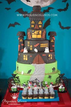 Haunted House themed birthday party via Kara's Party Ideas KarasPartyIdeas.com Cake, supplies, favors, desserts, tutorials, etc! #halloween #halloweenparty #hauntedhouse #hauntedhouseparty (10)