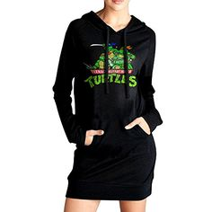 Women Teenage Mutant Ninja Turtles Galf Shell Heroes Long Hoodie Sweatshirt -- You can find out more details at the link of the image.(This is an Amazon affiliate link and I receive a commission for the sales)