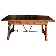 Spanish Baroque Trestle Writing Desk