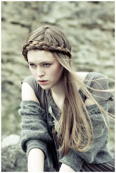fair-haired girl #fantasy #fairytale #braid #medieval