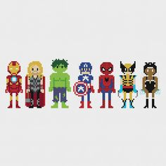 Hey, I found this really awesome Etsy listing at https://www.etsy.com/listing/217600980/marvel-superheroes-cross-stitch-pattern