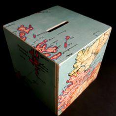 New in: Scotland, Highlands & Islands Map Money Box. Beautiful map detail. :0)