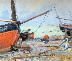 Barques sur la plage (1885)Claude Monet