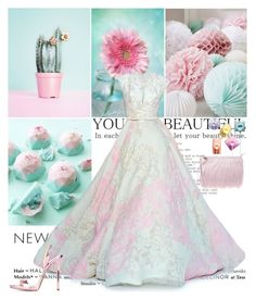 """""""And the Oscar goes to..."""" by shaneeeee ❤ liked on Polyvore featuring moda, Elie Saab, Giuseppe Zanotti, gown, pastels, oscarstyle e oscarfashion"""