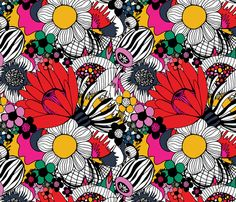 Floral Burst fabric by michellenilson on Spoonflower - custom fabric