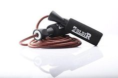 Leather Jump Rope By Zoldir - Skipping Ropes for Exercise CrossFit and Speed Skip Training Best Jumping Rope for Cardio Fitness