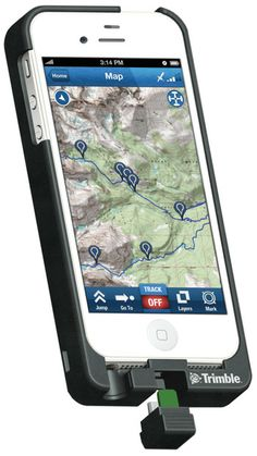 Trimble Topo converts phone to gps and has an extra battery built in so you can go longer b/w charges. $149