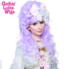 Gothic Lolita Wigs®  Countess™ Collection - LILAQUE (Lavender/White Fade#lolita #wig #wig4wig #glw #gothcilolitawigs #pastelhair #curlyhair #princess #doll #dolly #livingdoll #lolitafashion #Jfashion #makeupartist #circlelenses #eyelashes #rockalash #dolluxe #lash #lashes #kawaii #cute #pretty #gyaru #mori #ulzzang #angelicpretty #babythestarshinebright