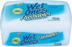 Wet Ones Flushables Personal Cleansing Wipes with Aloe, Vitamin E
