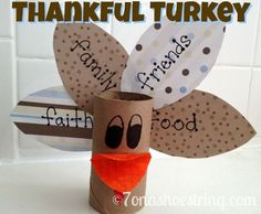 #Thanksgiving Thankful Turkey Craft by ophelia