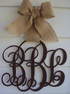 Wooden Monogram Script  Individual or Family Initial Monogram Decor