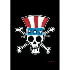 Head to Lowe's to get this awesome Patriotic Jolly Roger Flag to decorate your boat, dock, etc.   Rain or Shine�18-in x 12.5-in Spring Flag