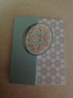 Circle card thinlits and Festive Flurry framelits