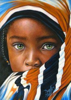 Colombian Painter, Colombian Artist, Paintings, childhood paintings, African Artist, African Painter, Portrait Paintings, Drawings, Realist, Hyper realistic paintings, Hyper Realist, By Dora Alis