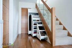 Resultado de imagem para under stairs drawers modern