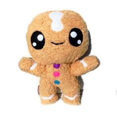 Monster & Tiere - Fluse:Kawaii Plush Lebkuchenmann Teddyplüsch - ein Designerstück von Fluse-123 bei DaWanda