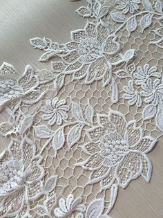 Your place to buy and sell all things handmade Silk Ribbon Embroidery, Hand Embroidery Designs, Lace Applique, Crochet Edging Patterns, Lace Patterns, Antique Lace, Vintage Lace, White Lace, Cream White