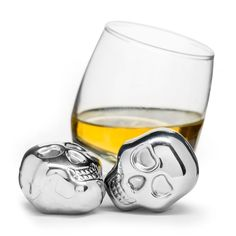 bar:Set of 2 Skull Head Drink Stones design by Sagaform Cool Gifts, Best Gifts, Apollo Box, Skull Head, Bar Set, Halloween Gifts, Wine Glass, Stainless Steel, Cool Stuff