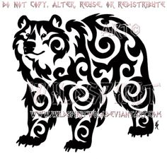 Kazakh Tribal Bear Design by WildSpiritWolf.deviantart.com on @DeviantArt